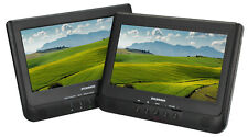Sylvania 10-Inch Dual Portable DVD Player, Car Adapter USB / SD Card slot