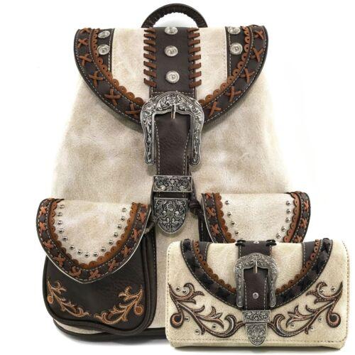 Backpack Rhinestone Wallet Set Concealed And West Justin Carry Trendy Western 6Y7vgybf