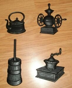 Image Is Loading Vintage 4 Piece Ton Cast Metal Wall Art