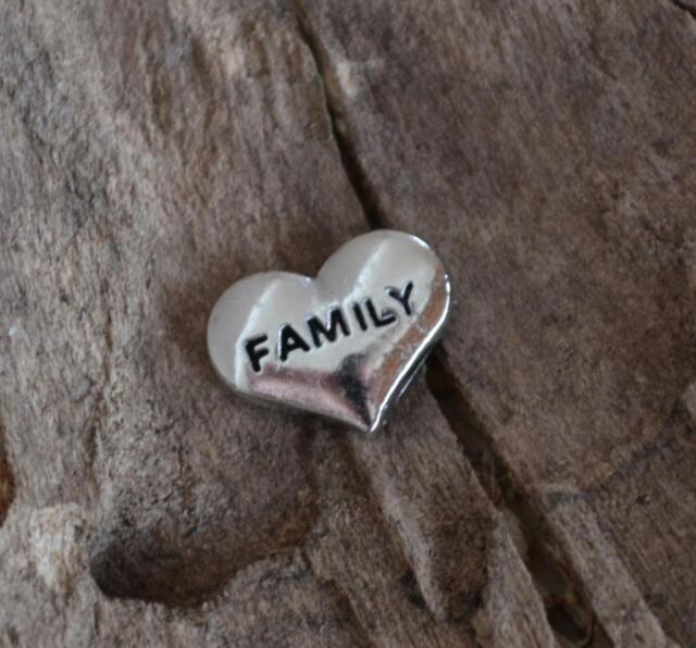 Jewellery Charm For  Living Floating Locket Pendant Charm Family In a Heart