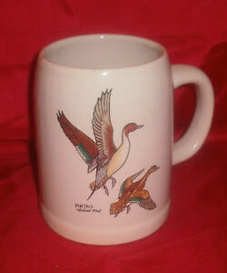 Collectible-Wildlife-Beer-Stein-Signed