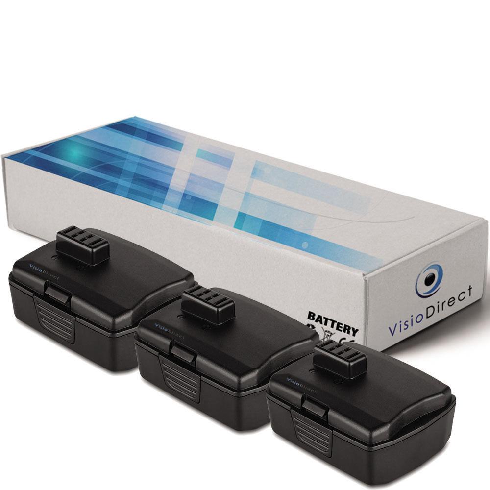 Lot de 3 batteries 12V 2000mAh pour Ryobi CHL12K - Société Française -