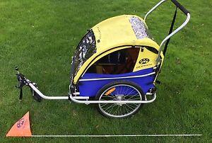 burley d 39 lite bike trailer with jogger stroller attachment. Black Bedroom Furniture Sets. Home Design Ideas