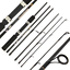 thumbnail 2 - NGT TRAVELMASTER TRAVEL FISHING ROD 6FT  PIECE CARBON FIBRE RIVER SPINNING ROD