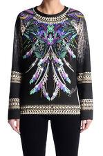 Just Cavalli Women's Multi-Color Crewneck Sweatshirt Sweater US S IT 40