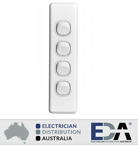 4-Gang-Architrave-Light-Switch-Quad-White-Electrical-Narrow-Arc-Slim-Arcy
