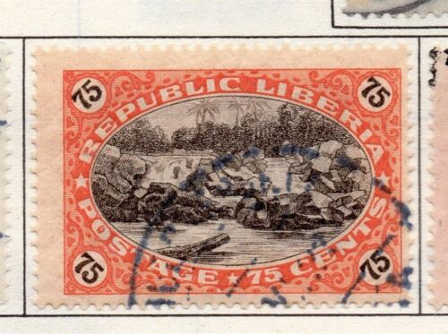 Liberia 1921 Early Issue Fine Used 75c. 164122