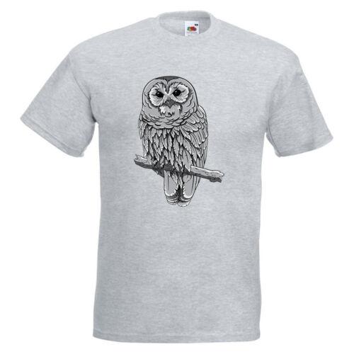 Hibou sur une perche Homme T-shirt imprimé animal Branch