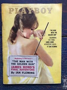 Vintage-Playboy-1965-James-Bond-Ian-Fleming-Final-Man-with-Golden-Gun-VARGA