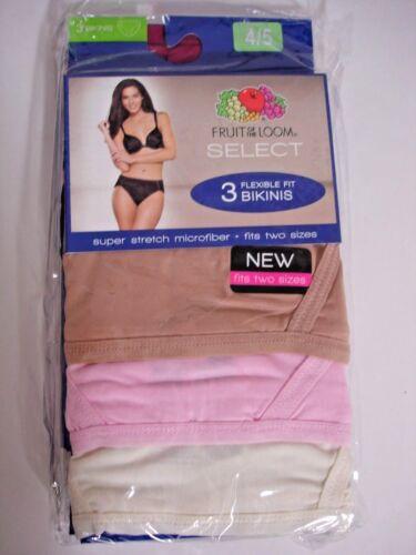 Fruit of The Loom 6 Pack Bikinis PANTIES Black,Pi  92/% Polyester SIZE 4//5 WOMEN