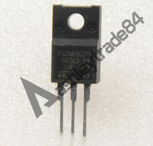 10PCS P10NK80ZFP Encapsulation:TO-220FL Manu:ST