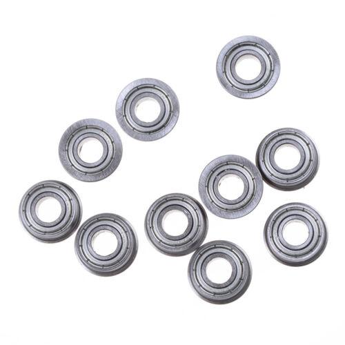 10pcs F686 F686ZZ Mini Metal Double Shielded Flanged Ball Bearings 6*13*5mm ZY