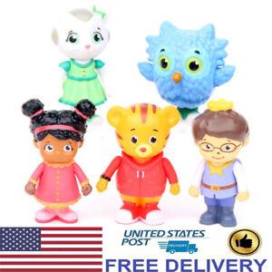 Daniel-Tiger-039-s-Neighborhood-Friends-5-PCS-Action-Figures-Cake-Topper-Kids-Toys