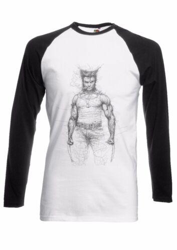 Wolverine X-Men Movie Men Women Long Short Sleeve Baseball T Shirt 2036
