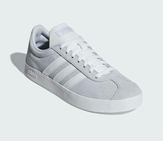 New adidas VL Court 2.0 Sneaker - Women's (9.5, AeroBlue/CloudWhite/LightGranite