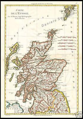 Cartina Geografica Della Scozia.Carta Geografica Antica 1700 Scozia Regno Unito Bonne Ebay