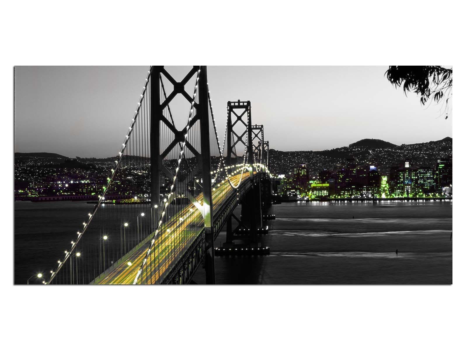 Deco De Vidrio Imagen eg4100500987 Bay Bridge Usa verde Tamaño 39,37  X 19,68  Hd pri