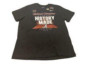 2020 Nike Alabama Crimson Tide - Football National Champions T-Shirt Size XL