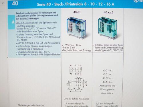 Relais 230V 1xUM 250V 16A Finder 40.61.8.230.0000 #4R23/%