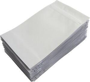 "White Resealable Airtight 7 Gram 1//4 Oz Ounce 4/""x6.4/""x2/"" Barrier Bags 50"