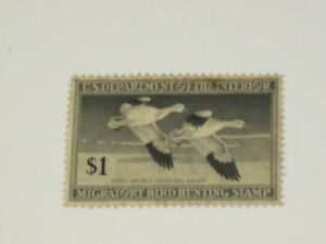 US Stamps RW 14 Federal Duck Stamp 1947 Used