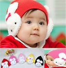 Baby Toddler Kids Girls Boys Winter Ear Flap Warm Hat Beanie Cap Crochet Rabbit