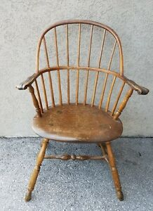 Charmant Details About 18C AMERICAN PENNSYLVANIA SACK BACK KNUCKLE ARM WINDSOR CHAIR