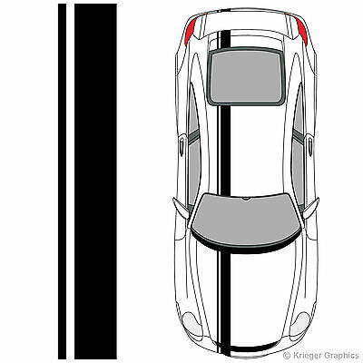 Porsche 718 or 911 Single Offset Rally Racing Stripes 3M Vinyl Stripe Decals