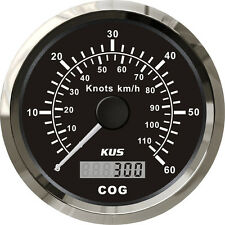85mm Black GPS speedometer 0-60knots for marine boat CMSB-BS-60L (SV-KY08011)