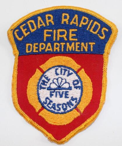Rare Vintage Cedar Rapids Fire Department Embroidered Patch