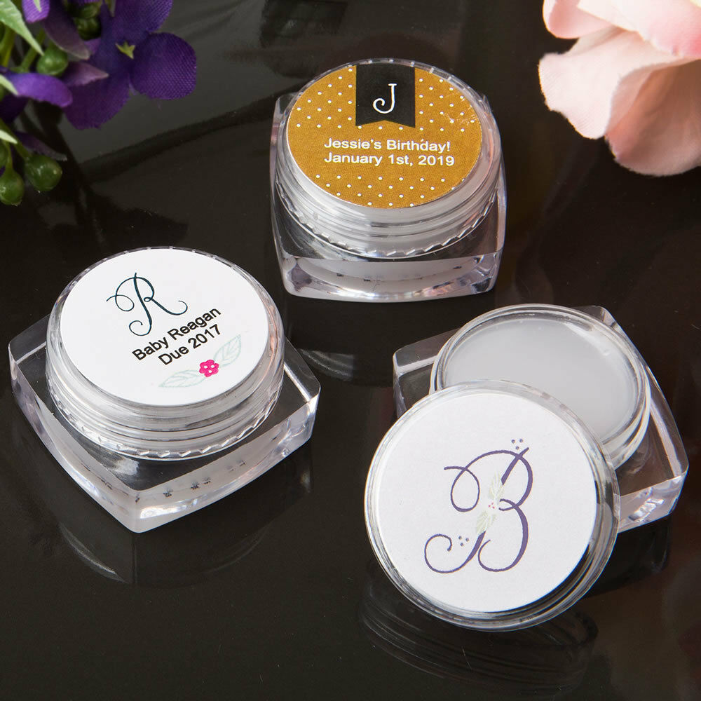 40-240 Personalized Monogram Design Lip Balm - Wedding Shower Party Favors