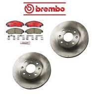 Honda Crx 90-91 Base Front Brake Rotors With Brake Pads Kit Brembo on Sale