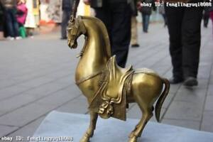12-Chinese-Royal-Brass-Copper-Feng-shui-Lucky-Wealth-Tang-Steed-Horse-Statue