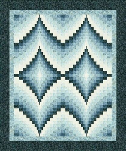 "Beautiful New Bargello Quilt Pattern DOUBLE DIAMONDS 80/"" x 96/"""