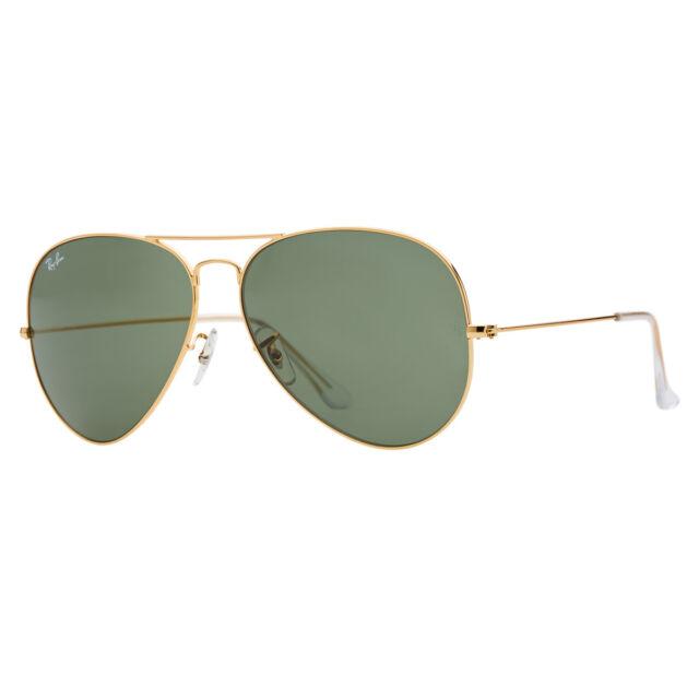 9af7ddee25c Ray-Ban Aviator Large RB3026 L2846 62mm Gold Frame Green Lens Sunglasses