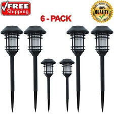 Hampton bay black solar led pathway outdoor light yard path way hampton bay black solar led pathway outdoor light yard path way landscape 6 pack aloadofball Images