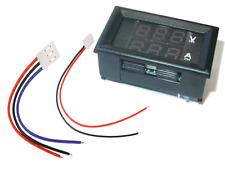 DC 100V 10A Voltmeter Ammeter Blau Rot LED Dual Digital Voltmeter Amperemeter