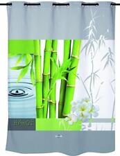 Clásico Zen Verde Bamboo gotas de agua Cortina de ducha de 180cm x 200cm poliéster