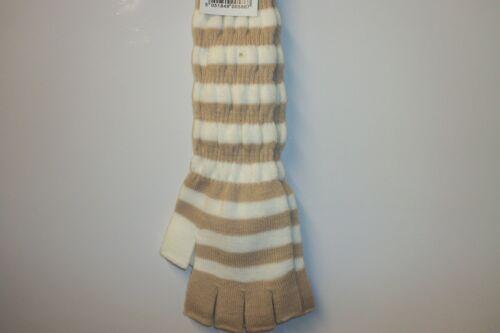 fast post 1st class LADIES //GIRLS LONG STRIPE FINGERLESS GLOVES 5 designs