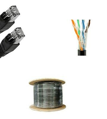 150/'FT CAT5/'e Outdoor Water/'Proof Ethernet Cable Direct Burial Internet RJ45 UV