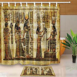 Ancient Egyptian mural Waterproof Fabric Shower Curtain ...