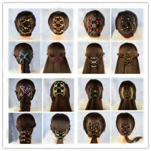 """African Butterfly Style Magic Combs BLACK S108 Angel Wings Hair Clips 4x3.5/"""""""