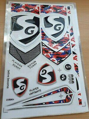 2D//Plain Cricket Bat Stickers Red 2D//Plain