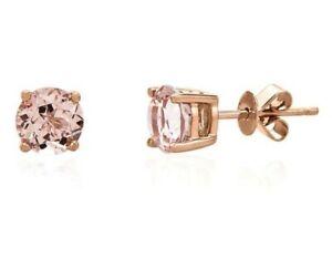 75-ct-Peach-Morganite-Round-Basket-Set-Stud-Earrings-14k-Rose-Gold-Sterling