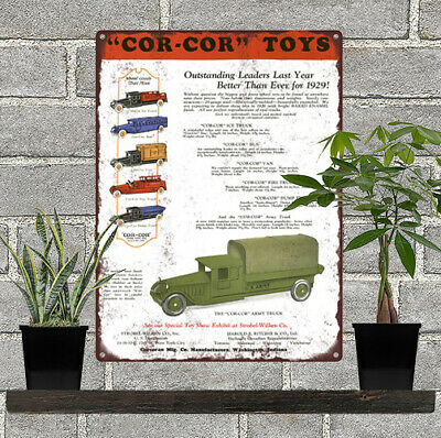 "1928 Keystone Heavy Steel Truck US Toys Mail Truck Dump Metal Sign 9x12/"" A477"