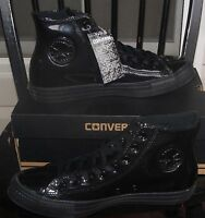 NEW CONVERSE CHUCK TAYLOR  ALL STAR PATENT LEATHER  HI MEN'S 10