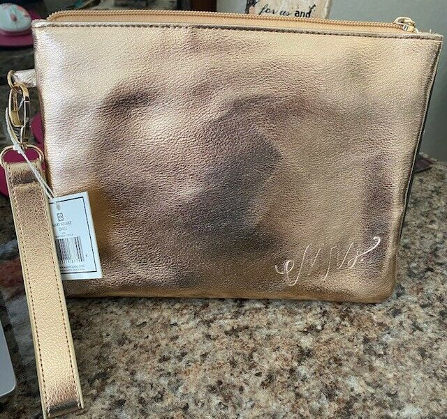New Mrs Mary Square Rose Gold Clutch/ Purse/ Wallet