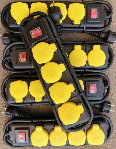 Steckdose 4er Steckdosenleiste 7,87€//St Außensteckdose Outdoor Verteiler IP44