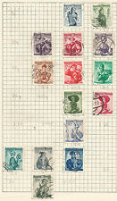 AUSTRIA -  lot of 15 STAMPS - NATIONAL COSTUME