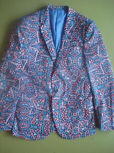 Details about SUSLO COUTURE HOLIDAY BLAZER CANDY CANE LAND SMALL 38 NEW
